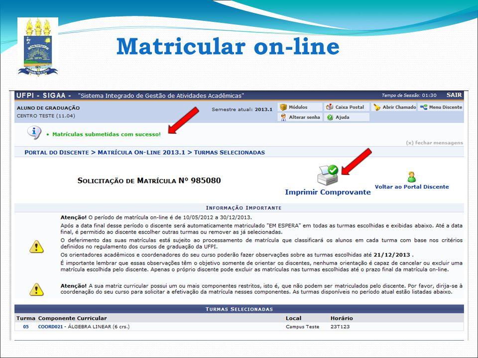 Matricular on-line 15