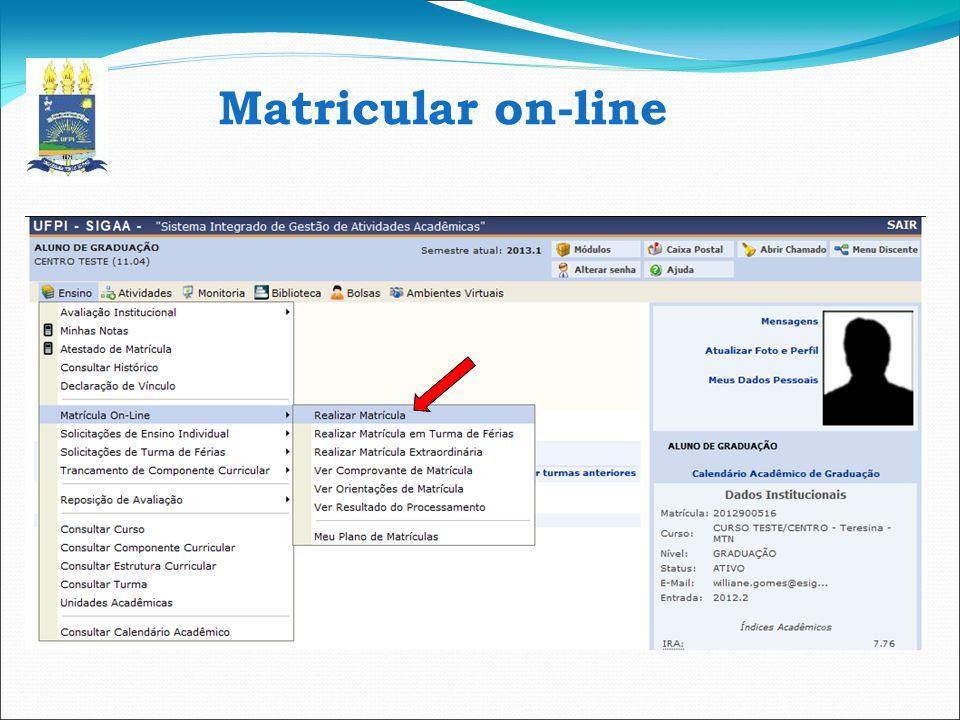 Matricular on-line 7