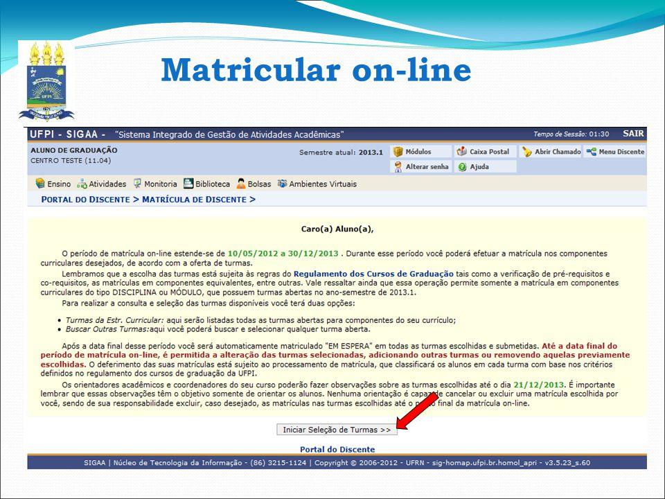 Matricular on-line 8