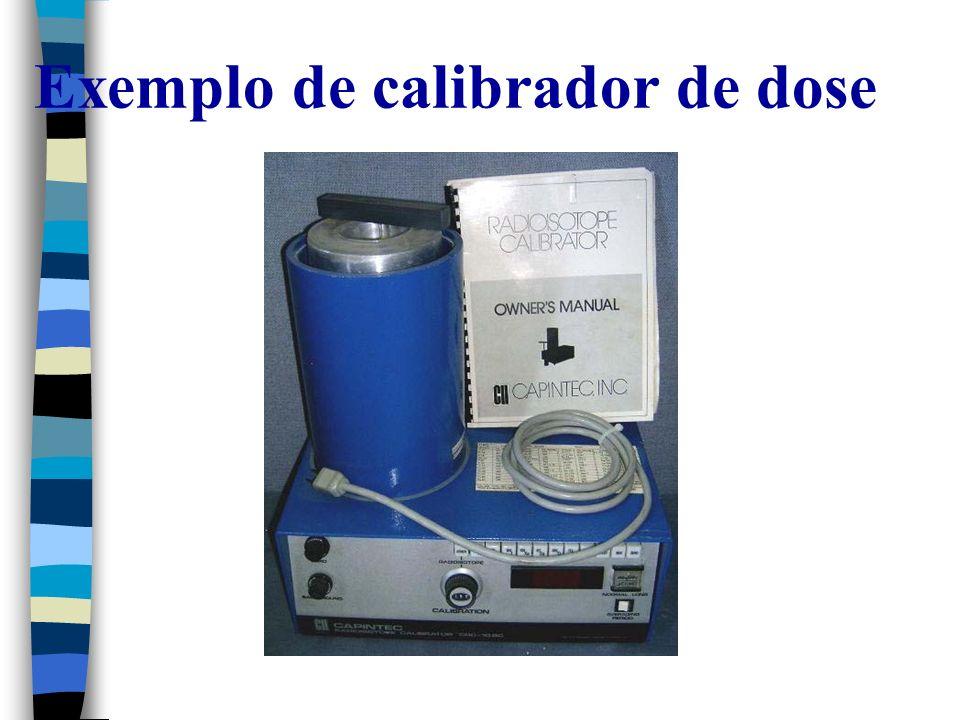 Exemplo de calibrador de dose