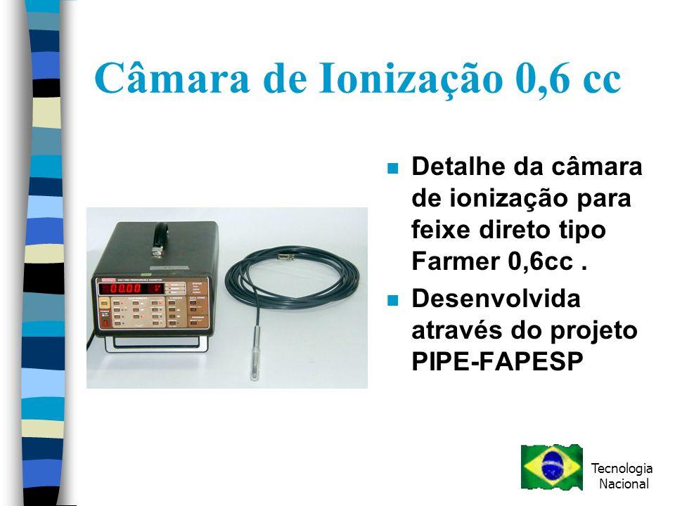 Câmara de Ionização 0,6 cc Detalhe da câmara de ionização para feixe direto tipo Farmer 0,6cc . Desenvolvida através do projeto PIPE-FAPESP.