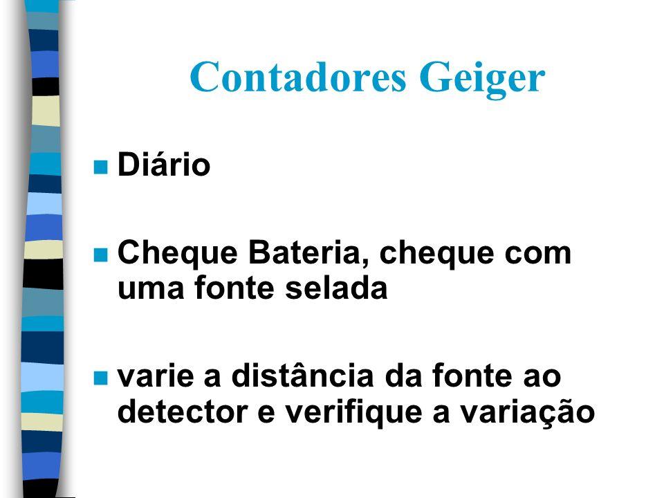 Contadores Geiger Diário Cheque Bateria, cheque com uma fonte selada