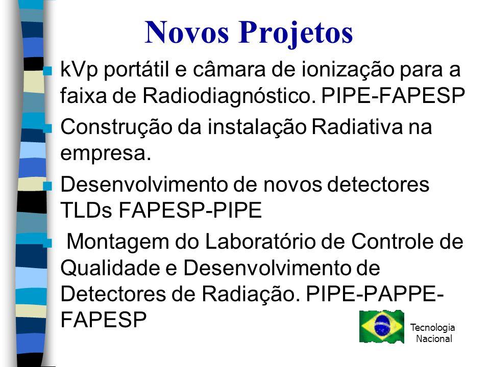 Novos Projetos kVp portátil e câmara de ionização para a faixa de Radiodiagnóstico. PIPE-FAPESP. Construção da instalação Radiativa na empresa.