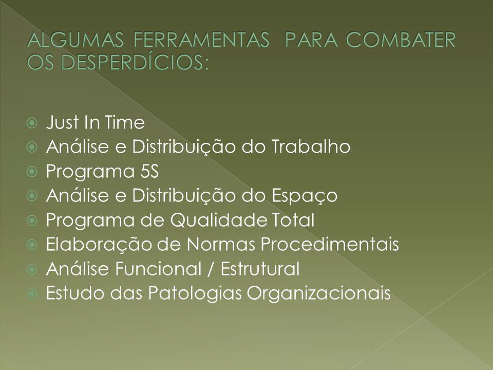 ALGUMAS FERRAMENTAS PARA COMBATER OS DESPERDÍCIOS: