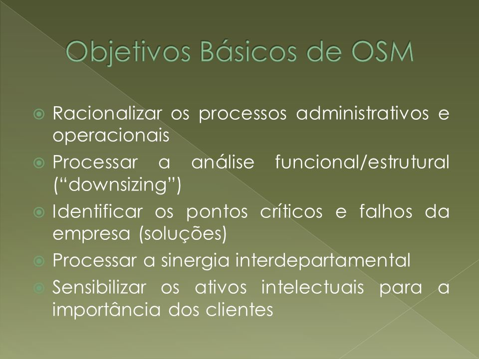 Objetivos Básicos de OSM