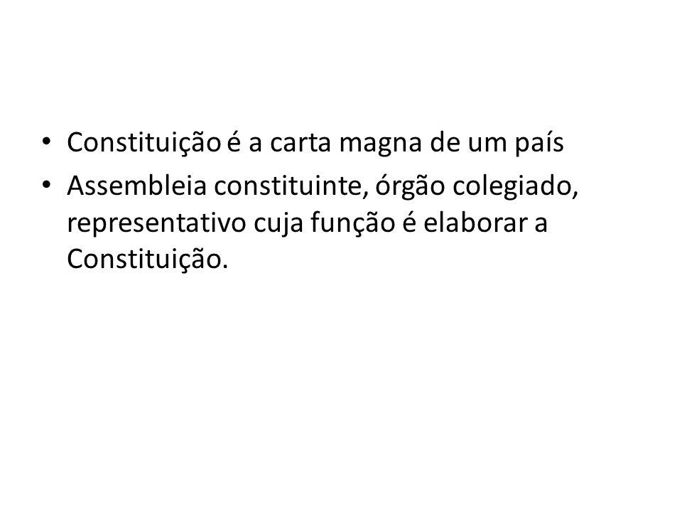Constituição é a carta magna de um país