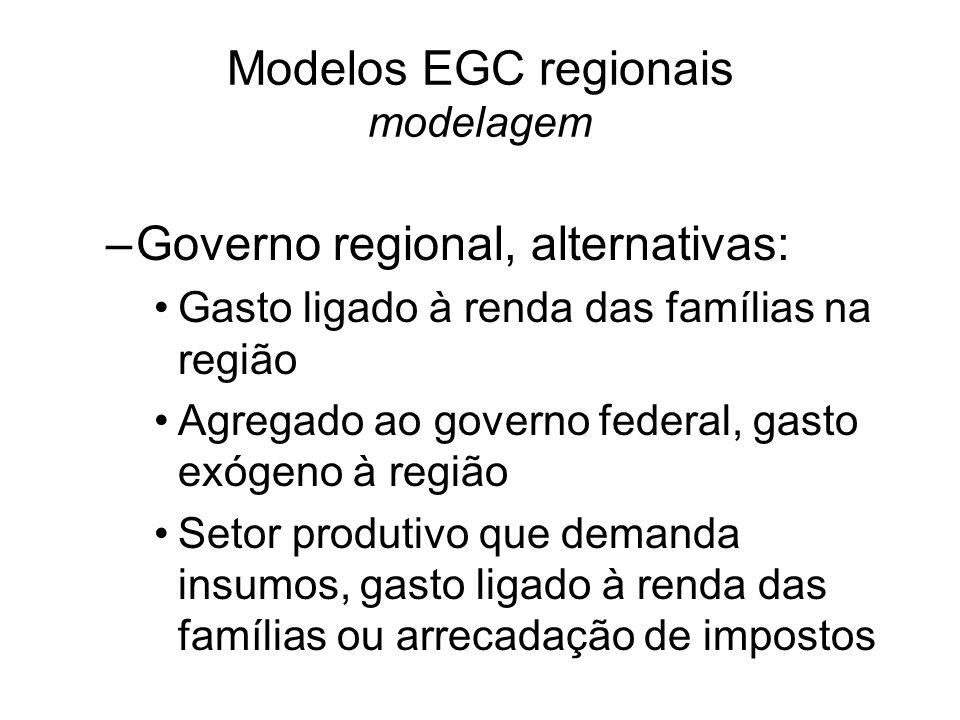 Modelos EGC regionais modelagem