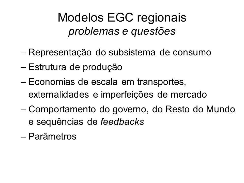 Modelos EGC regionais problemas e questões
