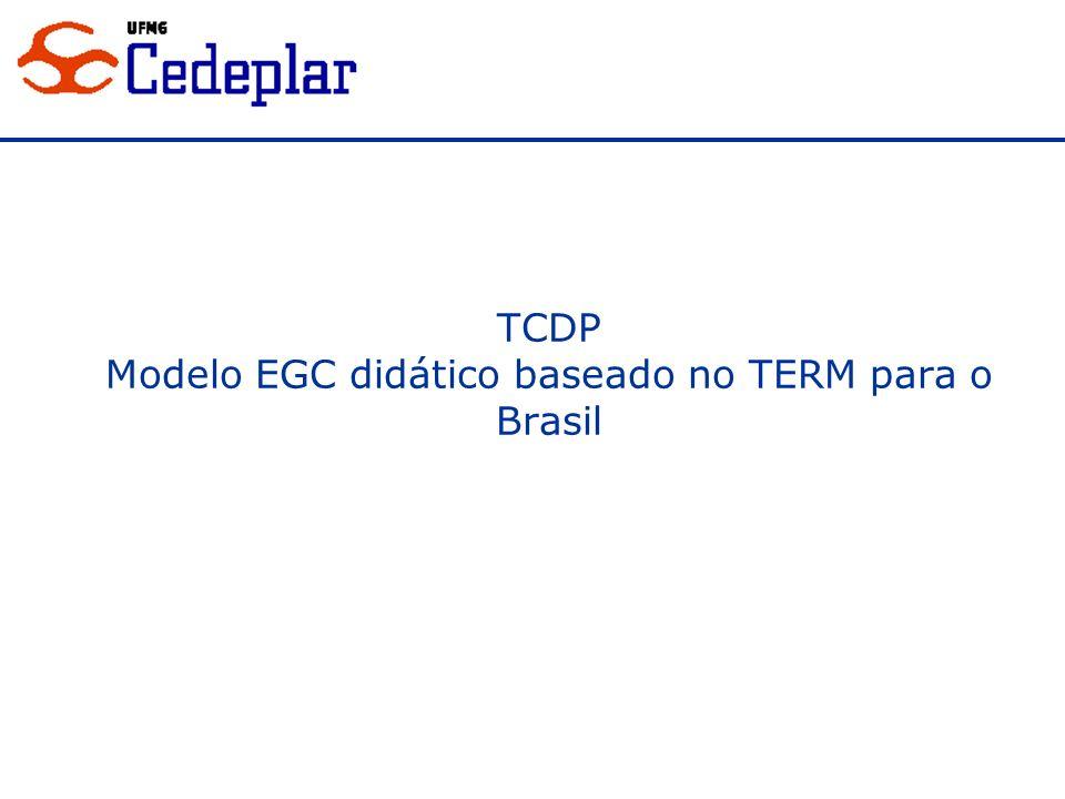 Modelo EGC didático baseado no TERM para o Brasil
