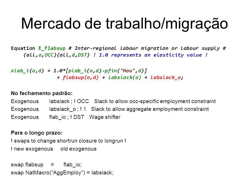 Mercado de trabalho/migração
