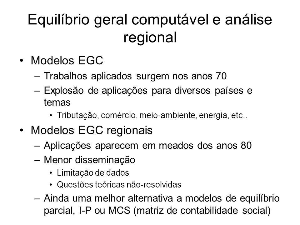 Equilíbrio geral computável e análise regional
