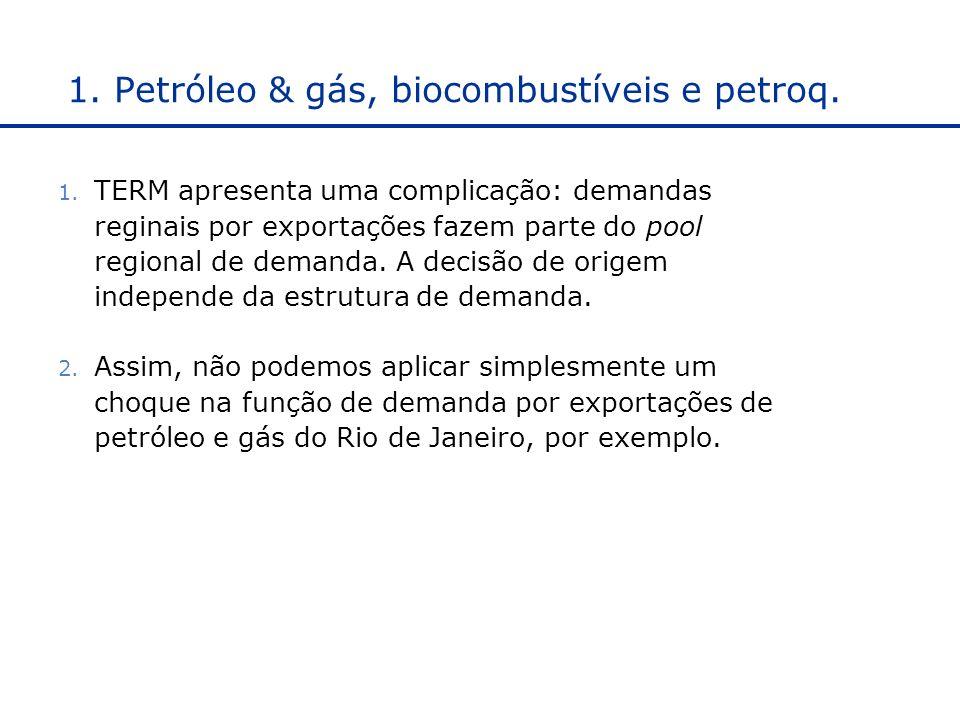 1. Petróleo & gás, biocombustíveis e petroq.