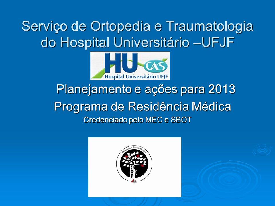 Serviço de Ortopedia e Traumatologia do Hospital Universitário –UFJF