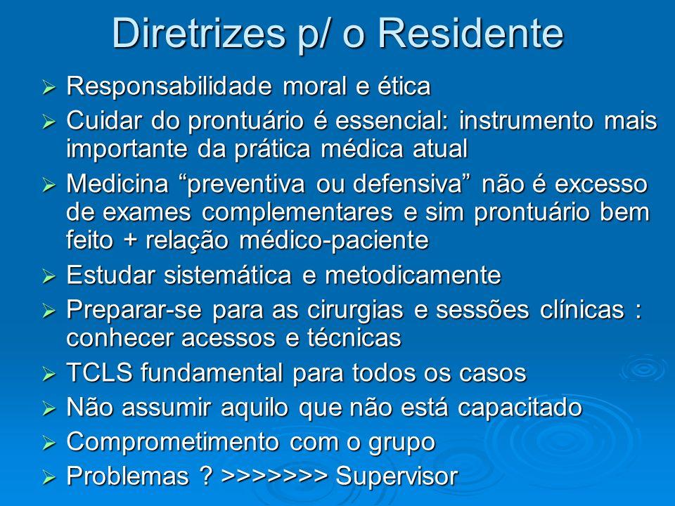 Diretrizes p/ o Residente