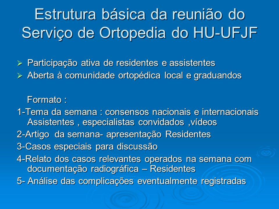 Estrutura básica da reunião do Serviço de Ortopedia do HU-UFJF