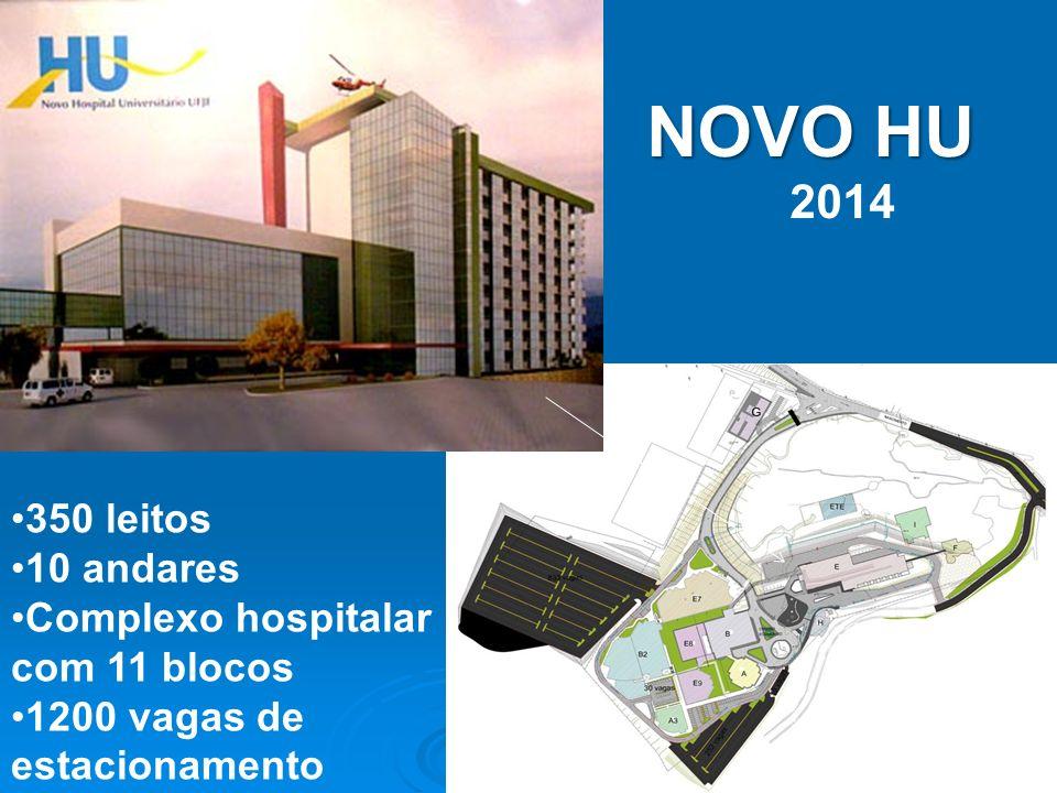 NOVO HU 2014 350 leitos 10 andares Complexo hospitalar com 11 blocos