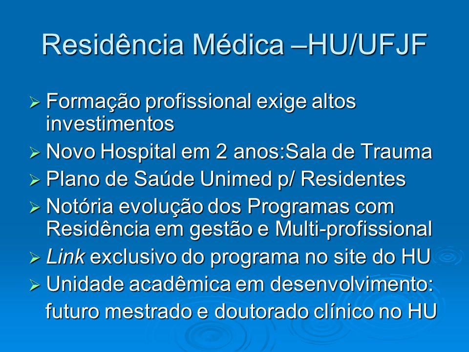 Residência Médica –HU/UFJF