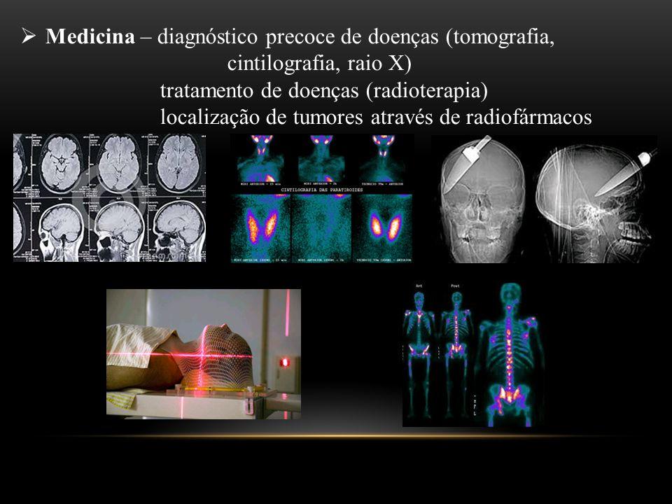 Medicina – diagnóstico precoce de doenças (tomografia,