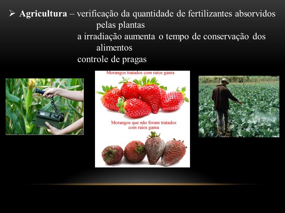 Agricultura – verificação da quantidade de fertilizantes absorvidos