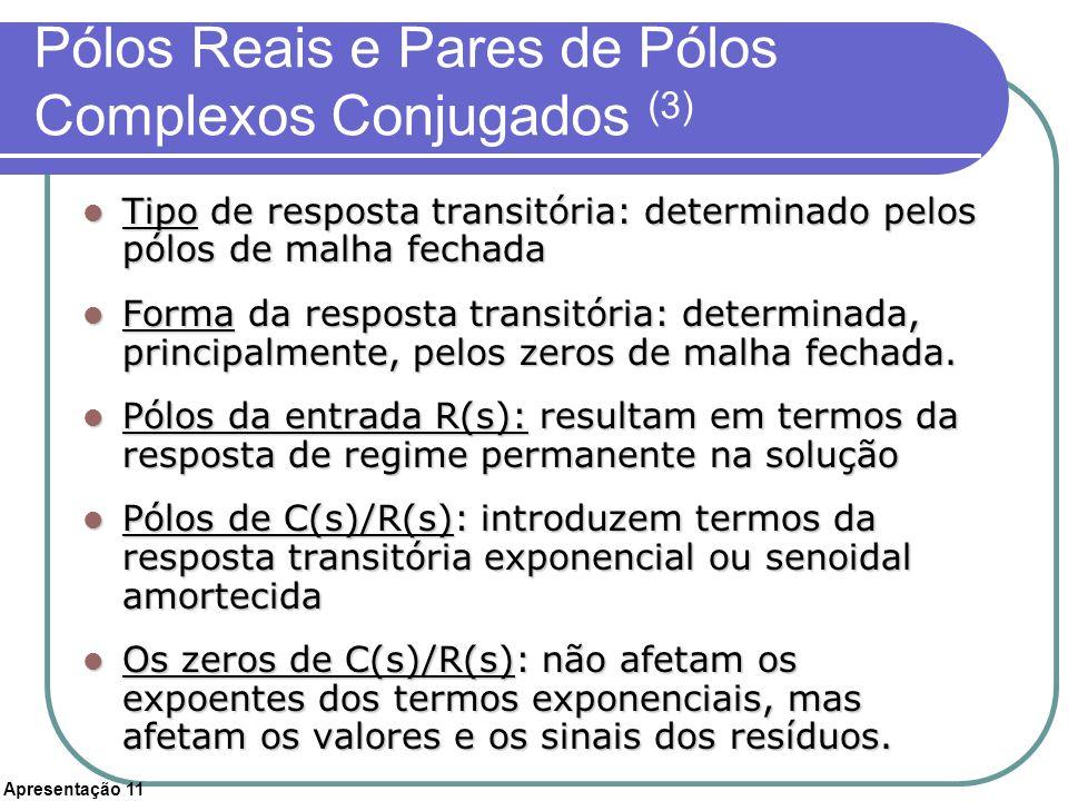 Pólos Reais e Pares de Pólos Complexos Conjugados (3)