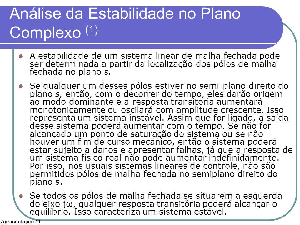 Análise da Estabilidade no Plano Complexo (1)