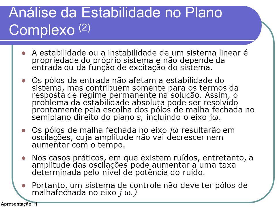 Análise da Estabilidade no Plano Complexo (2)