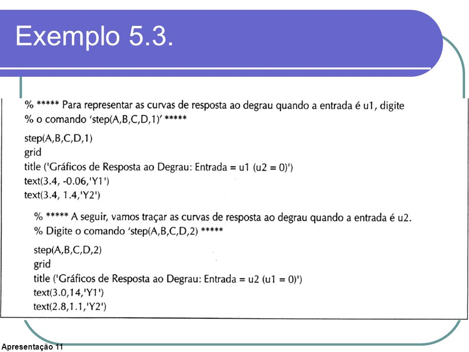 Exemplo 5.3.