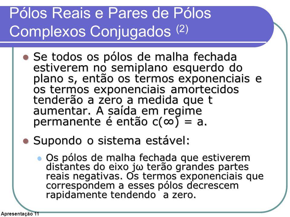 Pólos Reais e Pares de Pólos Complexos Conjugados (2)