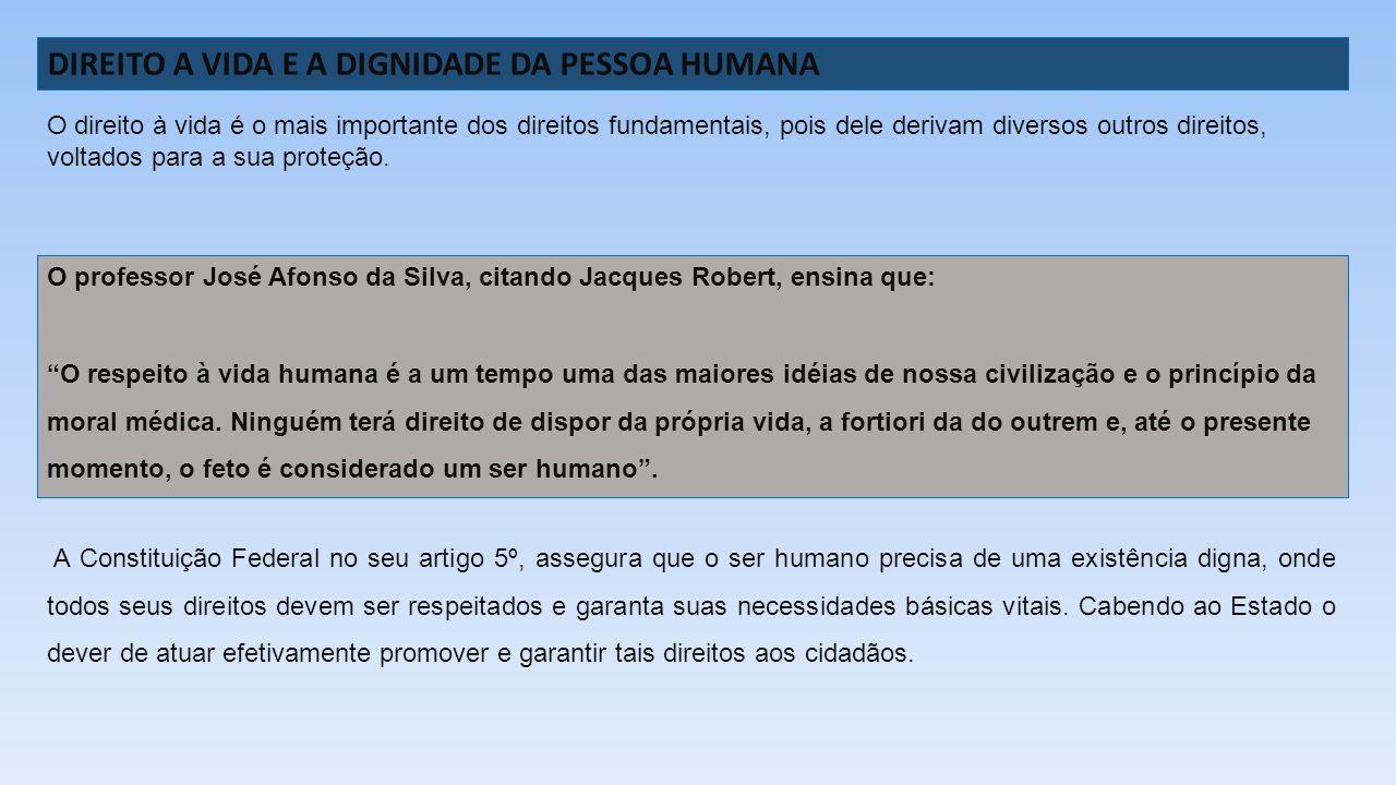 DIREITO A VIDA E A DIGNIDADE DA PESSOA HUMANA