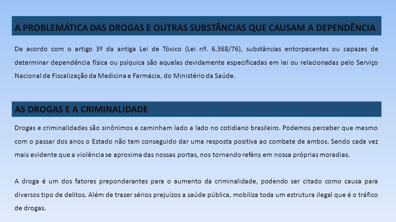 AS DROGAS E A CRIMINALIDADE