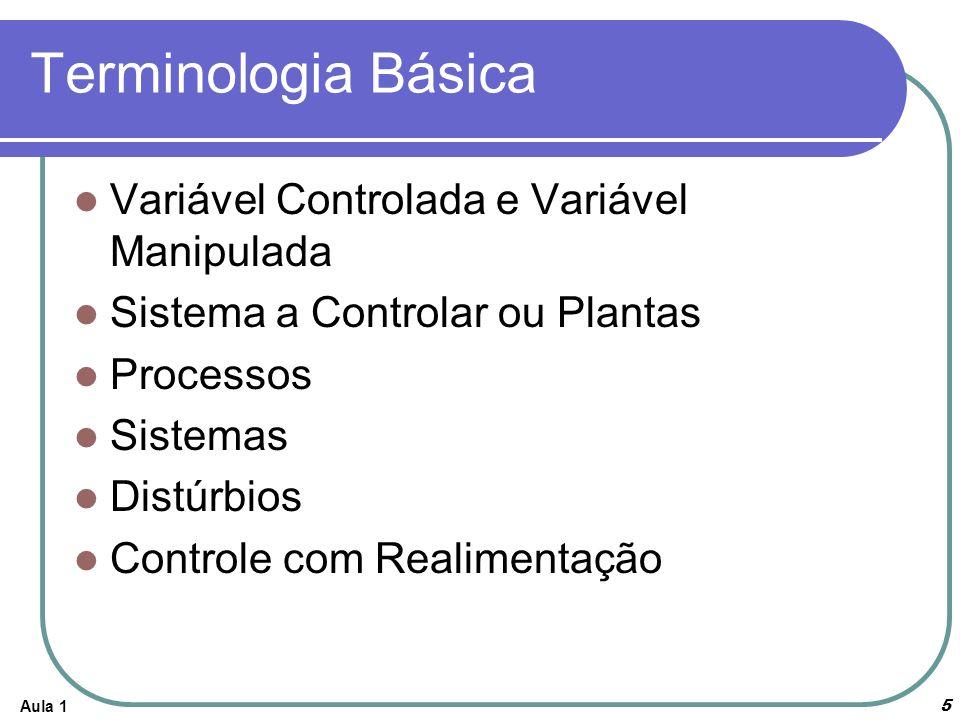 Terminologia Básica Variável Controlada e Variável Manipulada