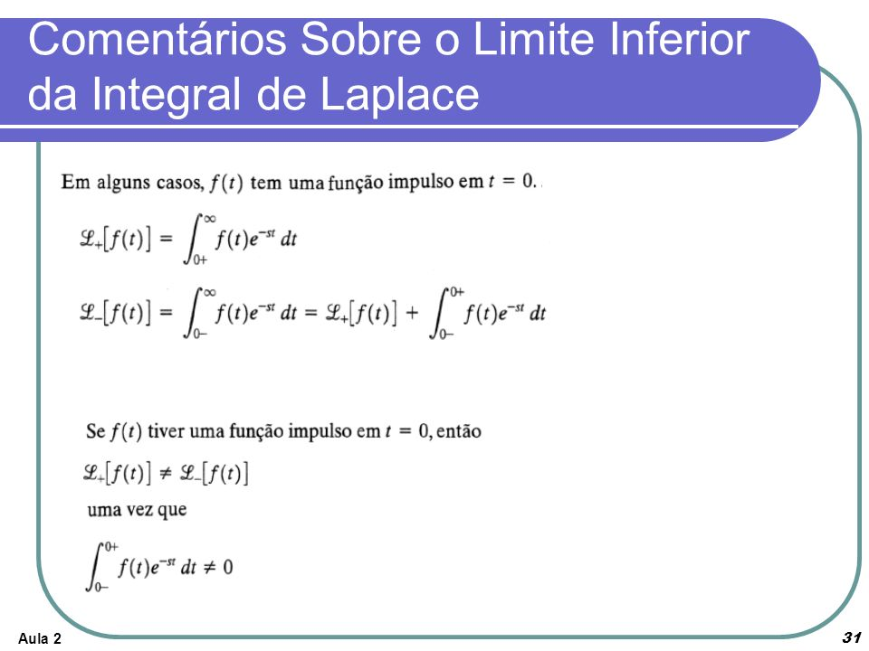 Comentários Sobre o Limite Inferior da Integral de Laplace