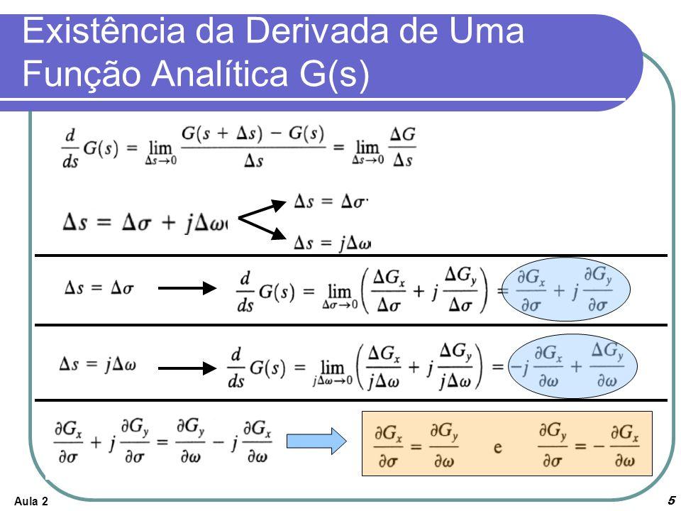 Existência da Derivada de Uma Função Analítica G(s)