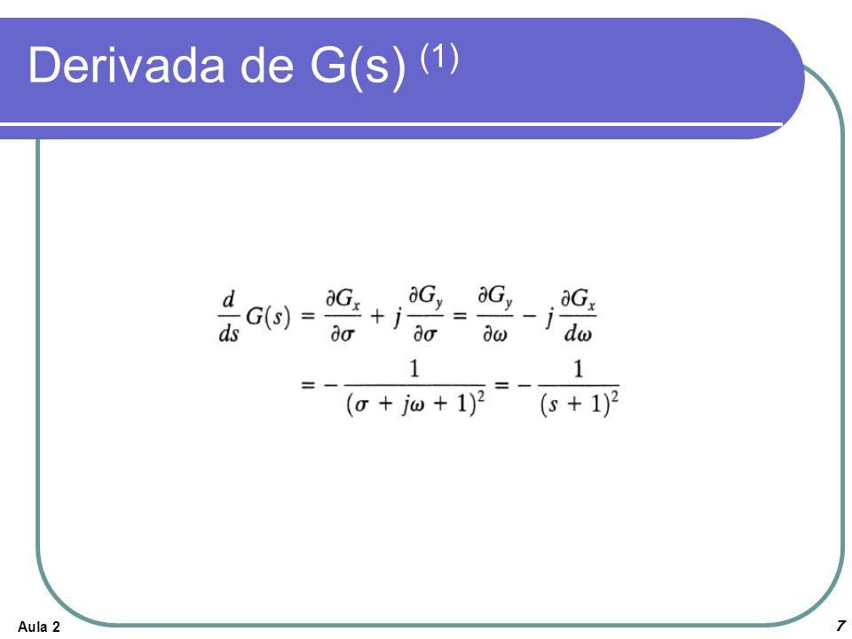 Derivada de G(s) (1) Aula 2