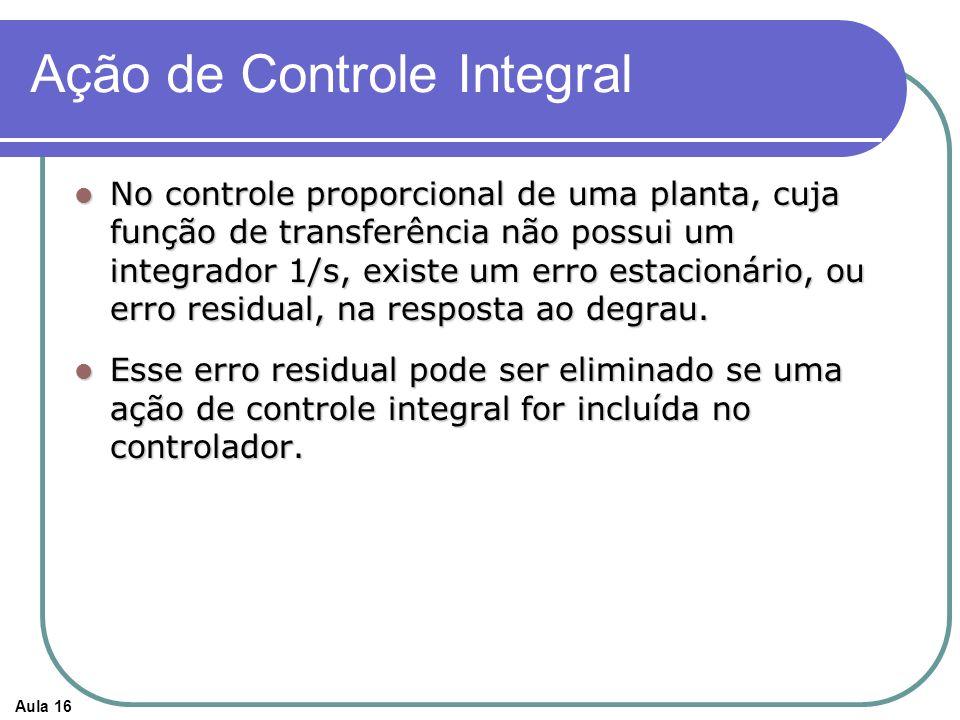 Ação de Controle Integral