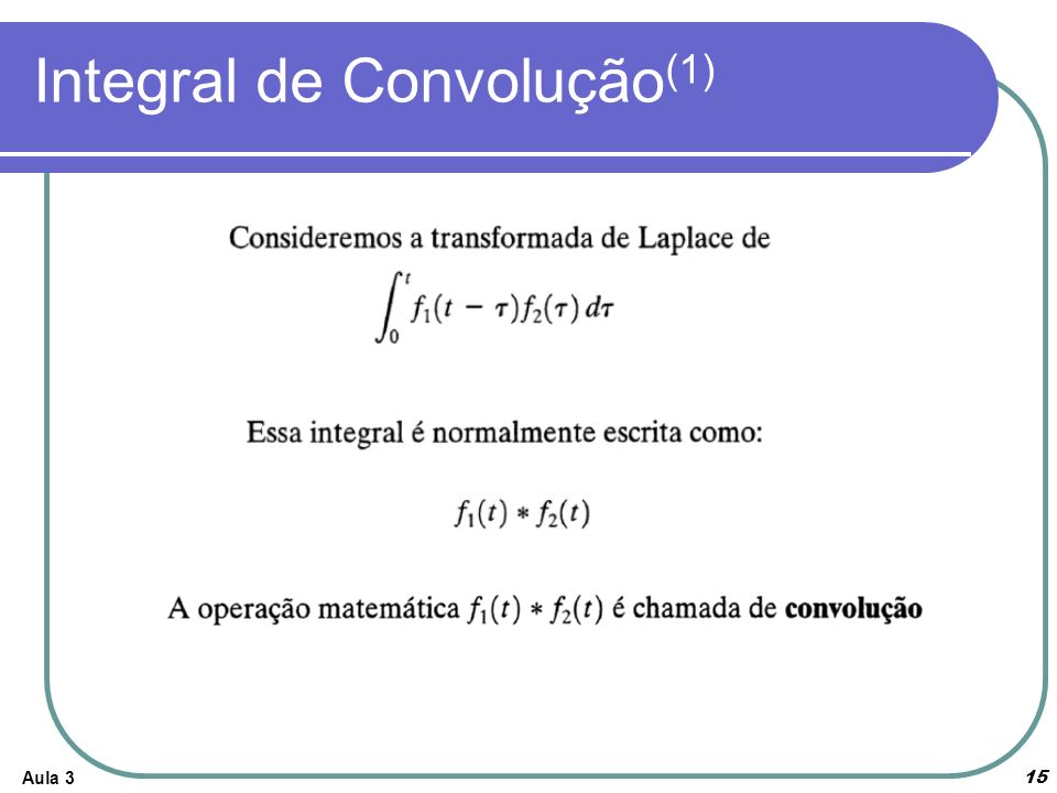 Integral de Convolução(1)