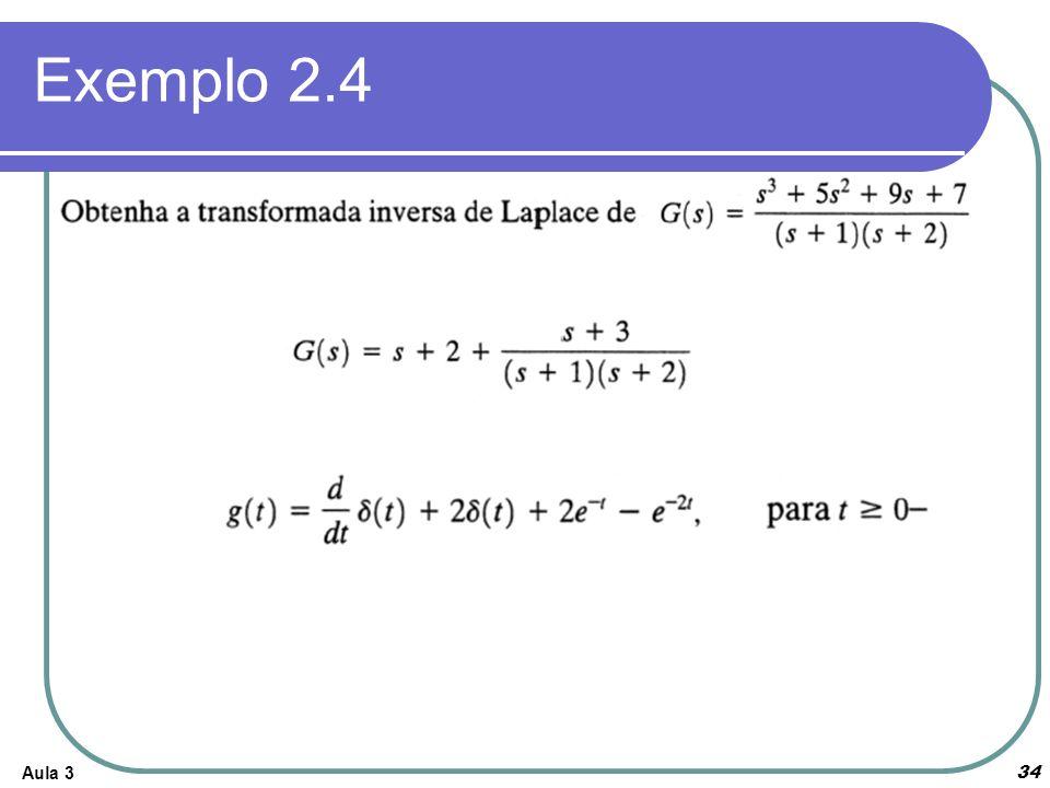 Exemplo 2.4 Aula 3