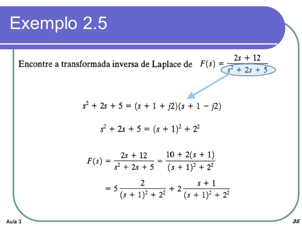 Exemplo 2.5 Aula 3
