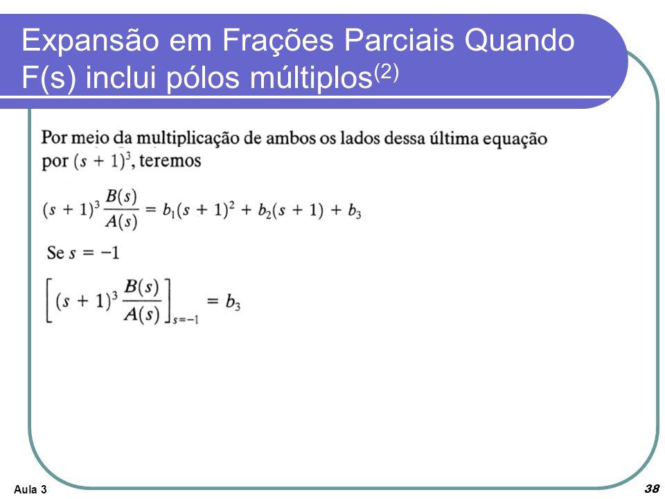 Expansão em Frações Parciais Quando F(s) inclui pólos múltiplos(2)