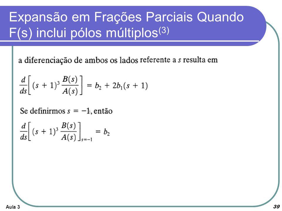 Expansão em Frações Parciais Quando F(s) inclui pólos múltiplos(3)