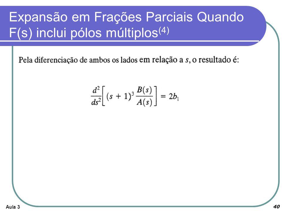 Expansão em Frações Parciais Quando F(s) inclui pólos múltiplos(4)