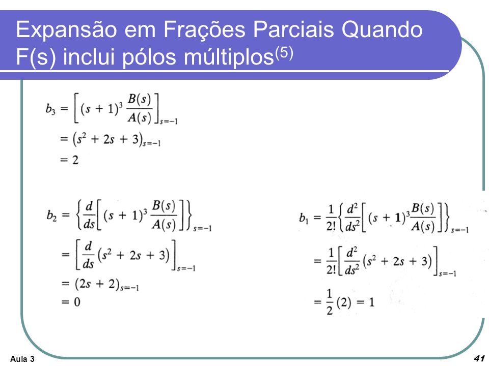 Expansão em Frações Parciais Quando F(s) inclui pólos múltiplos(5)