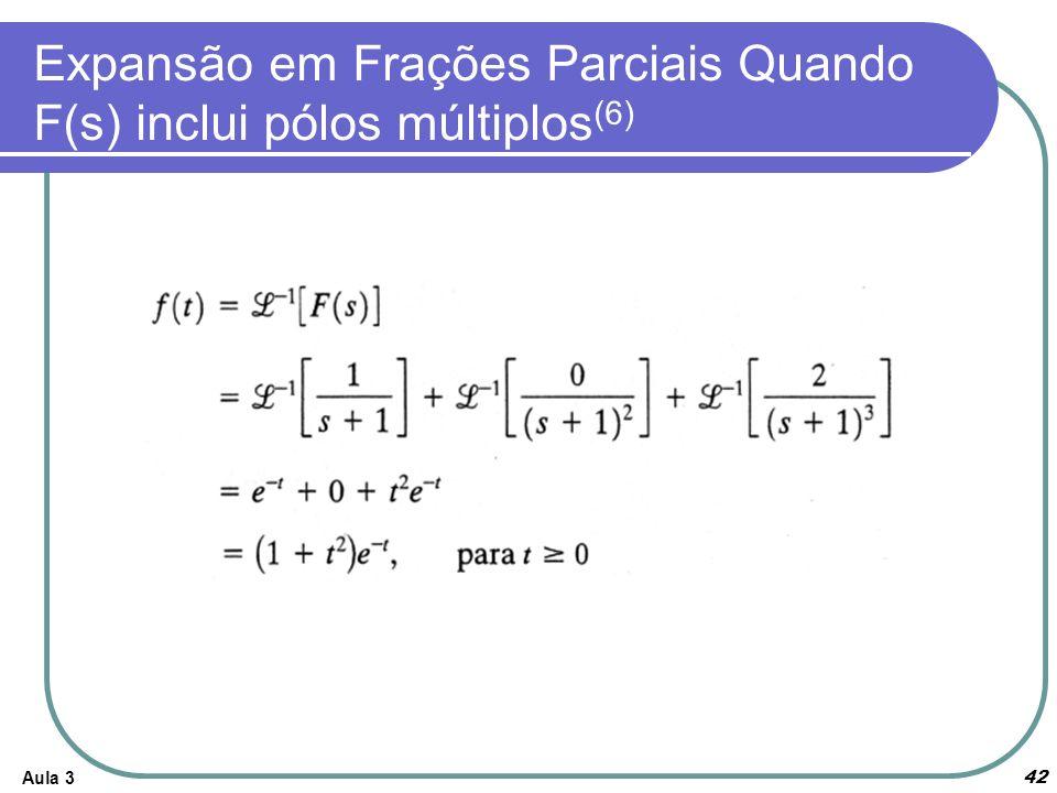 Expansão em Frações Parciais Quando F(s) inclui pólos múltiplos(6)