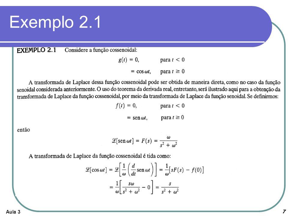 Exemplo 2.1 Aula 3