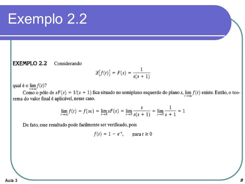 Exemplo 2.2 Aula 3