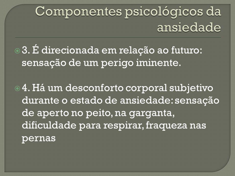 Componentes psicológicos da ansiedade