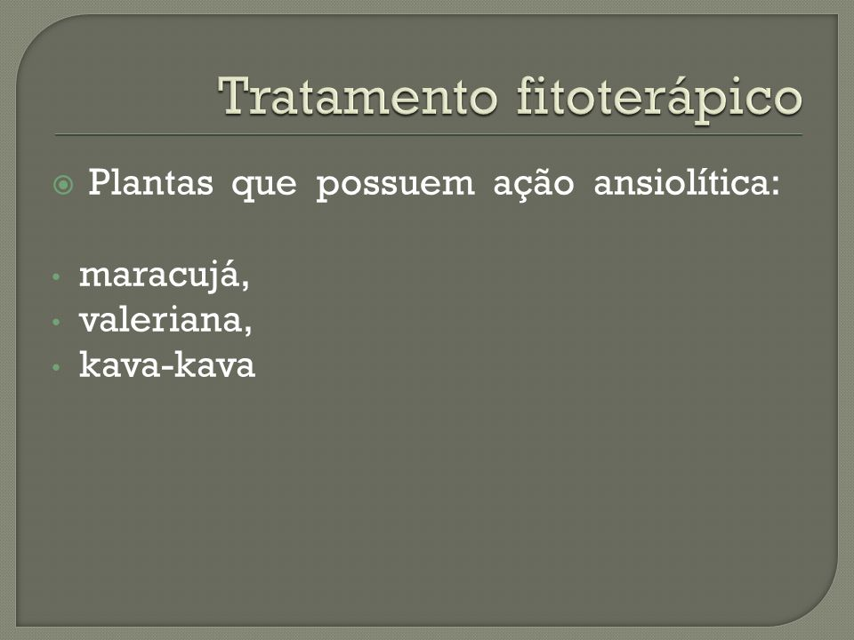 Tratamento fitoterápico