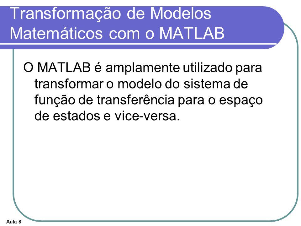 Transformação de Modelos Matemáticos com o MATLAB