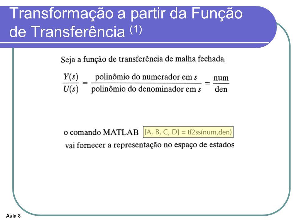 Transformação a partir da Função de Transferência (1)