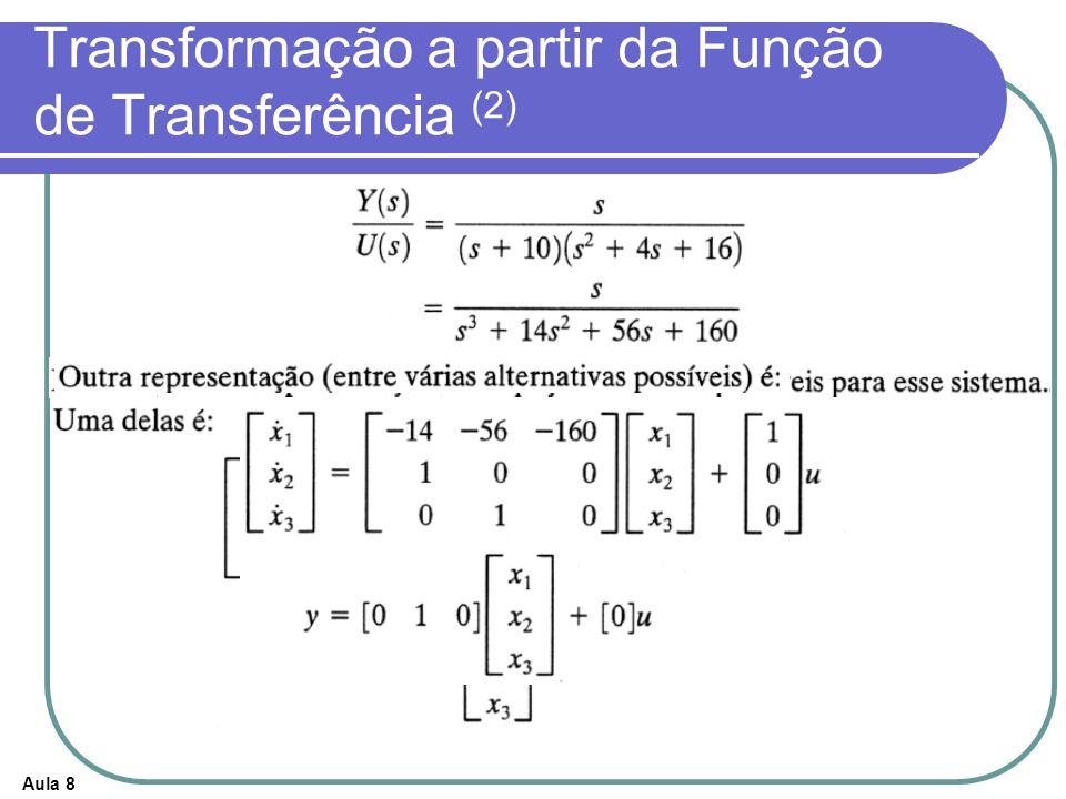 Transformação a partir da Função de Transferência (2)
